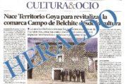 Heraldo de Aragón publica la creación de Territorio Goya.