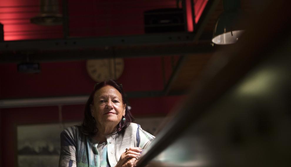 Marga Iñíguez ha impartido e imparte esta semana talleres intensos sobre creatividad. Toni Galán.